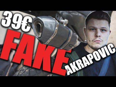 Fake 39€ Akrapovic sound vergleich (german)