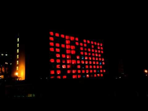 Světelná show - koleje Brno, Pod Palackého vrchem 11.4.2012