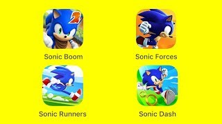 Sonic Dash 2: Sonic Boom, Sonic Forces: Speed Battle, Sonic Runners Adventures, Sonic Dash [iOS]