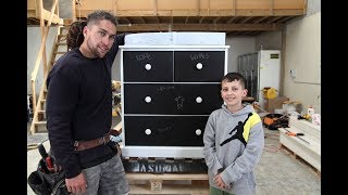 Youtube thumbnail for How to upcycle old drawers into chalkboard drawers with a baby change table