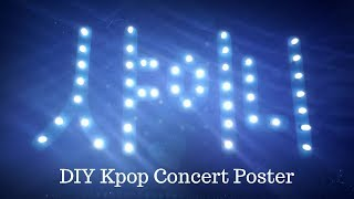 🎨* How To Make Your Own Kpop Light-up Concert  Poster *🎶