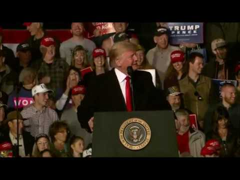 In a rally, President Trump praised Montana's GOP Rep. Greg Gianforte for slamming a reporter from The Guardian in 2017 during his campaign. Gianforte pleaded guilty to misdemeanor assault after the incident (Oct. 18)