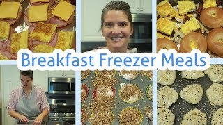 Large Family ONCE A MONTH Breakfast FREEZER MEALS