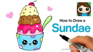 How To Draw Cute Ice Cream With Eyes Videos