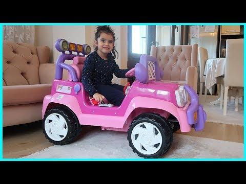 Prenses Akülü Arabamızı İnceledik, Harika Özellikleri Var l Akülü Araba Videolar