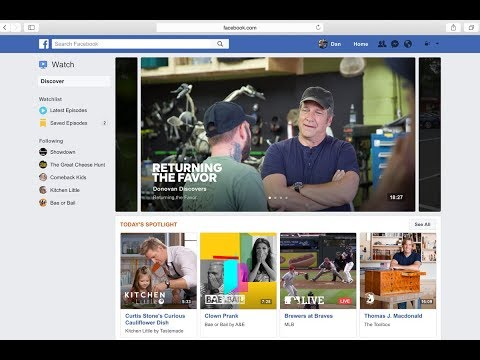 Facebook lanza su nuevo plataforma de videos Watch