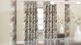 Red Toned Floral Curtains Greyish White Background Blackout Drapes Clacoco