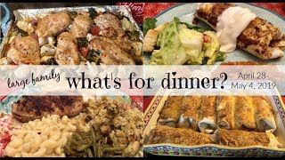 What's for Dinner? (& dessert!) | Real Life Meal Ideas | Large Family Food