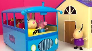 AUTOBUS ESCOLAR DE PEPPA PIG 🐽 CAPITULO 1 - LA EXCURSION DE PEPPA PIG Y SUS AMIGOS SCHOOL BUS