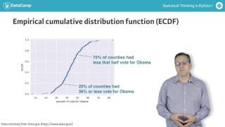 Python tutorial: Cumulative Distribution Functions