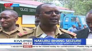 Bhang estimated worth Kshs. 3M nabbed by police officers in Kaimana, Nakuru county