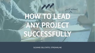 How to lead any special district project ... successfully