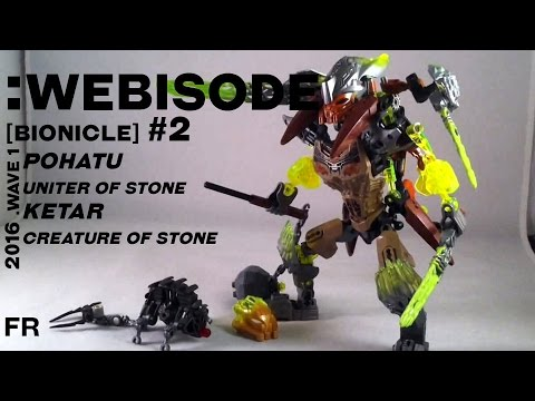 Vidéo LEGO Bionicle 71301 : Ketar - Créature de la Pierre