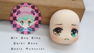 Air Dry Clay Chibi Face Basic Tutorial (personification Of Raymond From Animal Crossing)
