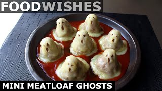 Mini Meatloaf Ghosts - Halloween Meatloaf - Food Wishes by Food Wishes