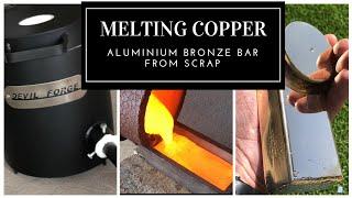 Gambar cover Melting Copper - Trash To Treasure - Aluminum Bronze made from scrap copper & Aluminium