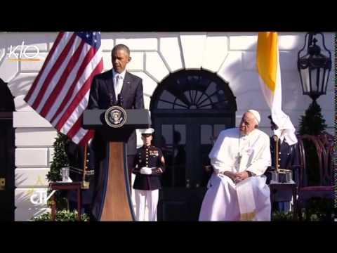 Visite du Pape François au Président des Etats-Unis Barack Obama