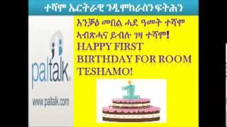 Happy First BirthDay For Room Teshamo!