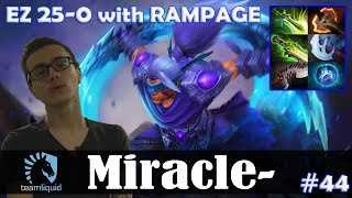 Miracle - Anti-Mage Offlane | EZ 25-0 with RAMPAGE | Dota 2 Pro MMR  Gameplay #44