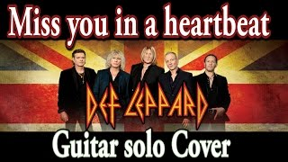 Miss you in a heartbeat (Def Leppard) guitar solo Cover | www.tamsguitar.com