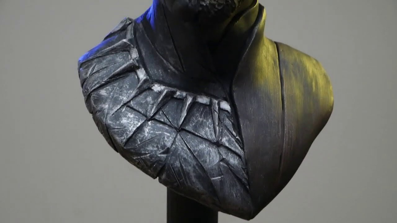 black panther sculpture time lapse by steven richter