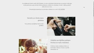 Создание сайта-визитки для парикмахера-стилиста