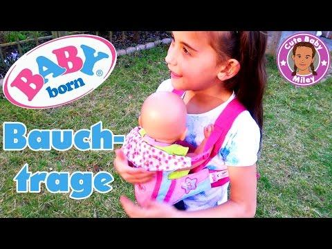 BABY BORN BAUCHTRAGE Tragesitz - Miley und Lotta unterwegs | CuteBabyMiley