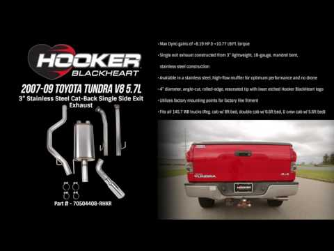 2007-09 Toyota Tundra V8 5.7L Cat-Back Single Side Exit Exhaust