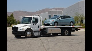 2012 Freightliner Rollback Flatbed Tow Truck Demonstration Drive Review