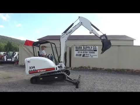 2006 Bobcat 334 Rubber Track Mini Excavator Kubota Diesel Backhoe Loader For Sale