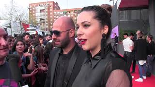 ESCKAZ in Madrid: Eye Cue (Macedonia) on ESPreParty Red Carpet