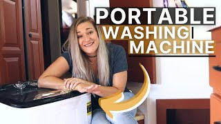 LAUNDRY when FULL-TIME RV LIVING | How-To and Review for Think Gizmo's Portable Washing Machine TG23