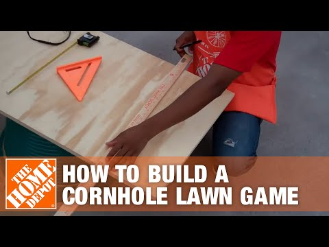 How To Build a Cornhole Lawn Game | The Home Depot
