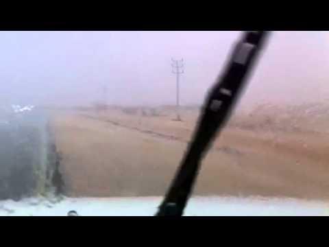امطار غزيرة وبرد بعشيرة شمال الطائف الجمعه ٨رمضان