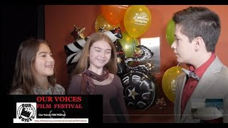 Maia Costea brings home the Best Female Performer Award at the 2017 Our Voices Film Festival, founde