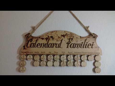 Как заработать выжиганием? Семейный календарь,.family calendar.
