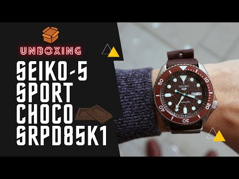 SEIKO 5 SPORTS AUTOMATIC WATCH IN BROWN SRPD85K1