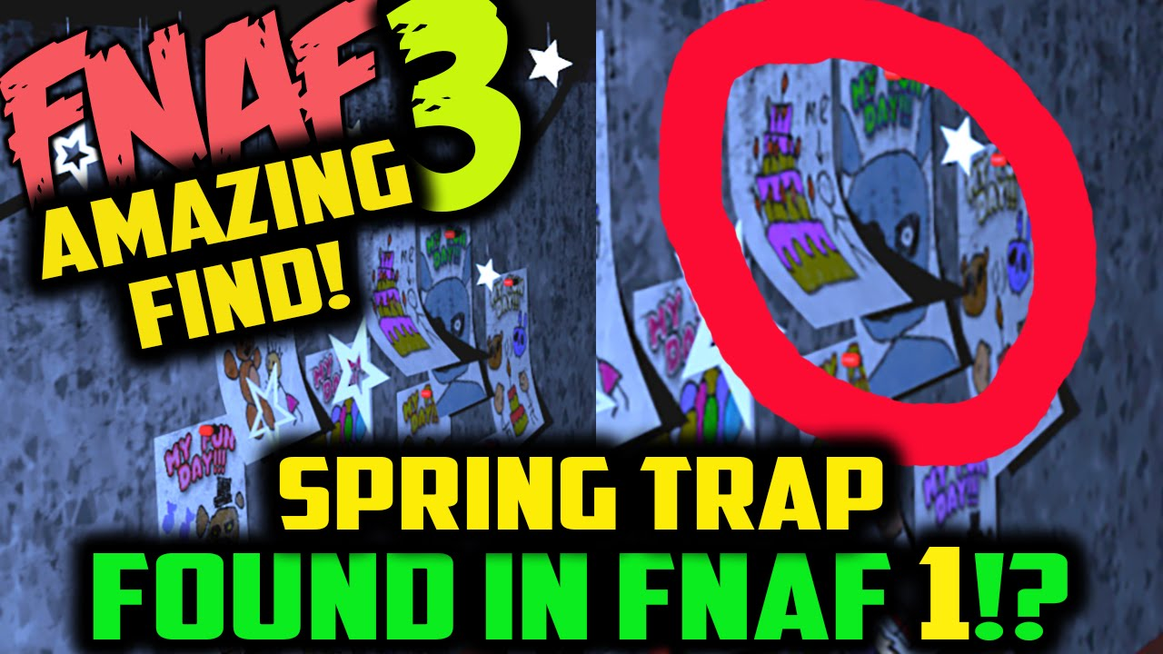 FNAF 3 SPRING TRAP FOUND IN FNAF 1?! Five Nights at Freddy's