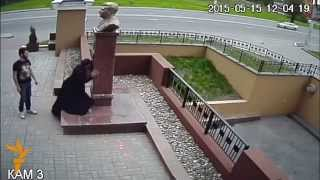 A New Stalin Monument Attracts Flowers And Vandals