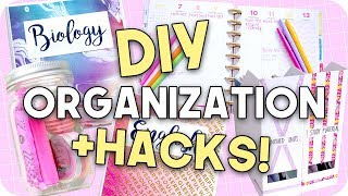 DIY Organization + Hacks for Back to School!