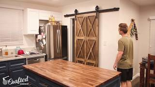 How To Make A Plywood Barn Door For Your Kitchen W/Crafted Workshop | Arrow