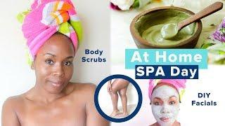 DIY AT HOME SPA DAY | Body Scrub, Facial Mask & SUPER Soft Feet Remedies