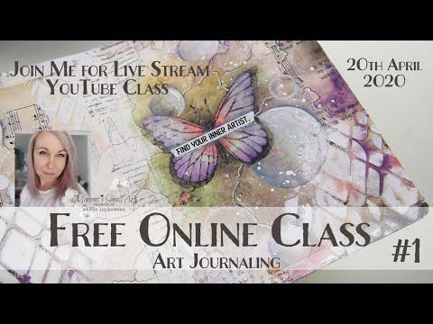 Free Online Class from Maremi ~ Art Journaling ~ #1