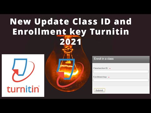 Download New Update Class ID and Enrollment key Turnitin 2021 | Turnitin Plagiarism Checker | Turnitin 2021 Mp4 HD Video and MP3