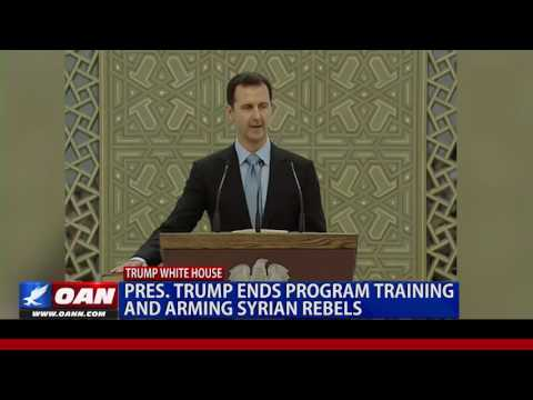 Pres. Trump Ends Program Training and Arming Syrian Rebels