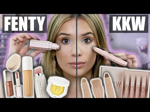 Download FENTY Vs KKW Full Face Comparison! WHAT'S BETTER?! HD Mp4 3GP Video and MP3
