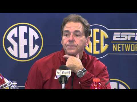 2014 SEC Championship Post Game Press Conference - Alabama