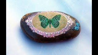 Декупаж на камне. Декорирование камней