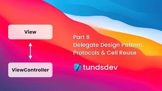Part 8 - Delegate Design Pattern, Protocols & Cell Reuse
