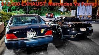 BATTLE OF THE $12,000 EXHAUSTS: CHEAP MERCEDES VS FERRARI 599 SUPERCAR